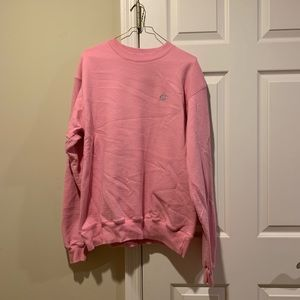 pink authentic champion crewneck/sweatshirt